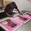 Jermaine Rogers in the studio